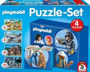 Set 4 puzzles caja playmobil
