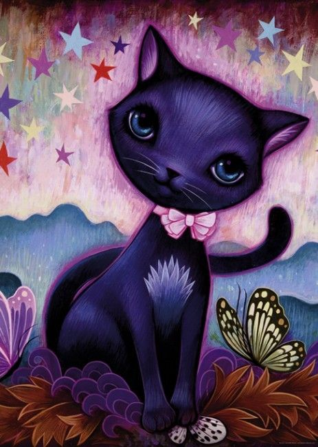 DREAMING BLACK KITTY JEREMIAH KETNER