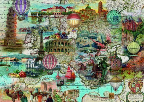 Viaje en globo por Europa