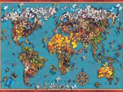 1000 BUTTERFLY WORLD MAP