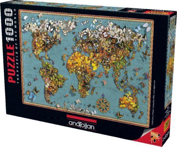 1000 BUTTERFLY WORLD MAP