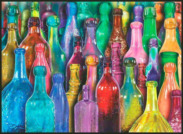 1000 COLOURFUL GLASS