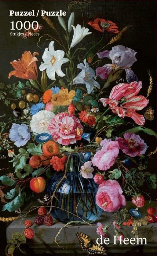 Puzzle Puzzelman 1000 piezas - Jarrón con flores de Heem - Puzzles tú me completas.