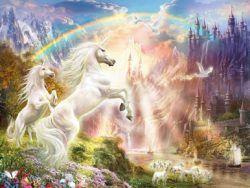 500 Puesta de sol con Unicornio