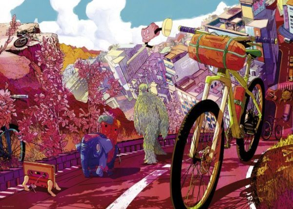 1000 BIKE ART. TOUR IN PINK