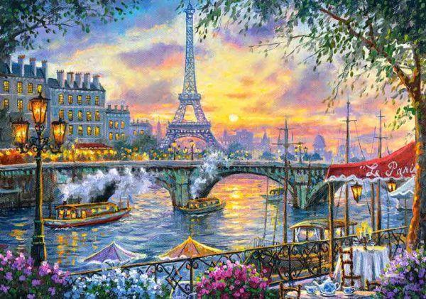 la hora del té en parís - puzzle castorland 500 piezas
