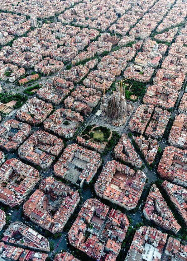 vista aerea de barcelona