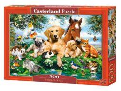 amigos de verano puzzle castorland 500 piezas