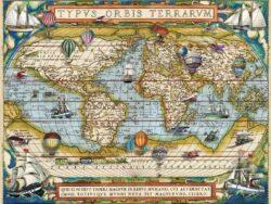 alrededor del mundo mapa mundi ilustrado puzzle ravensburger 2000 piezas
