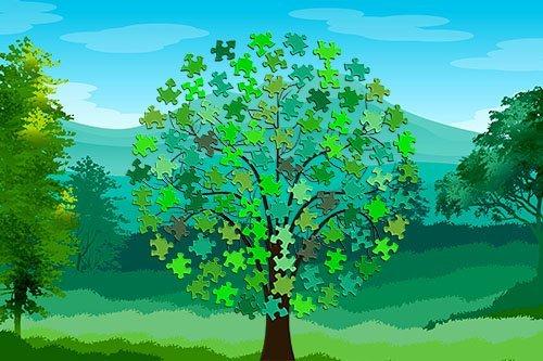 Arbol Green Puzzle Days