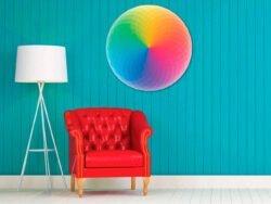 arcoíris puzzle redondo 59 cm diámetro rompecabezas 800 pizas de educa