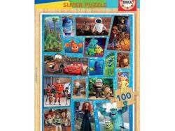 puzzle 100 'piezas madera disney pixar
