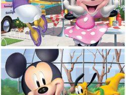 mickey y sus amigos puzzle madera 2 x 25 piezas