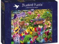 puzzle bluebird bienvenidos a nuestro jardin