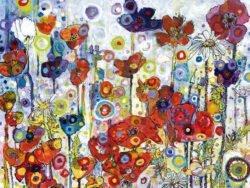 puzzle bluebird 1000 piezas, amapolas