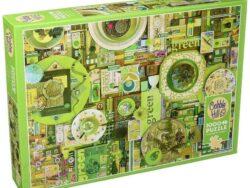 puzzle verde colección colores de 1000 piezas marca cobble hill