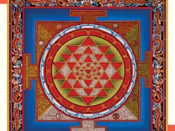 Mandala. Intimidad de Sri Yantra de Heussenstamm . Puzzle pomegranate 1000 piezas,